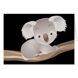 Cartão Koala do bebê
