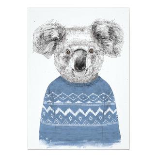 Cartão Koala do inverno