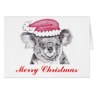 Cartão Koala do Natal