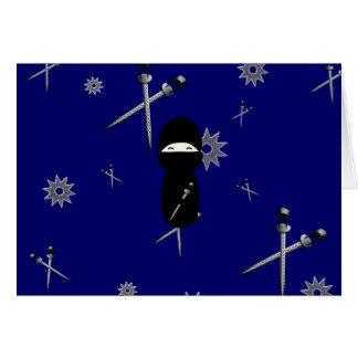 Cartão Kokeshi Ninja