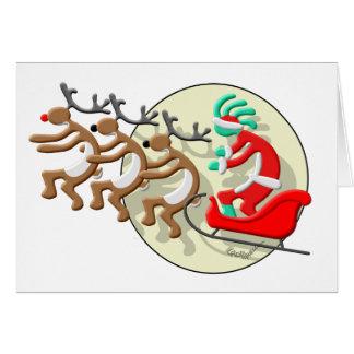 Cartão Kokopelli Papai Noel
