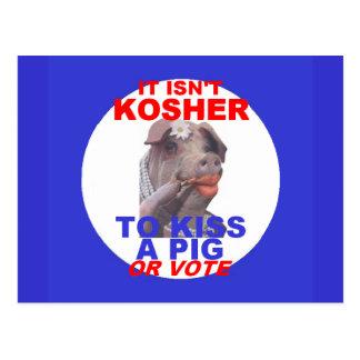 Cartão KOSHER do porco
