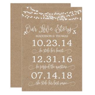 Cartão Kraft ilumina nossa decoração do casamento do