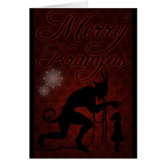 Cartão Krampus alegre