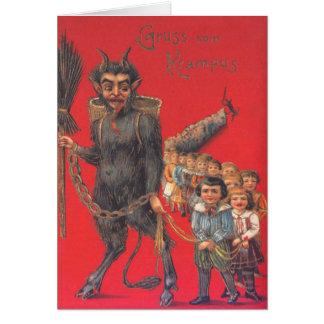Cartão Krampus com crianças más
