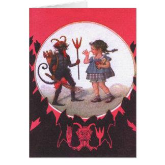 Cartão Krampus & menina