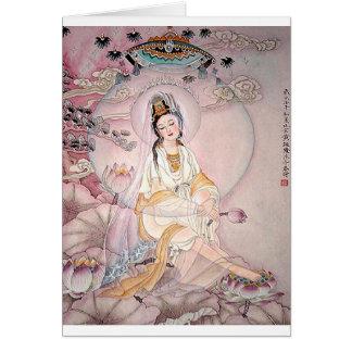 Cartão Kuan Yin; Deusa budista da piedade