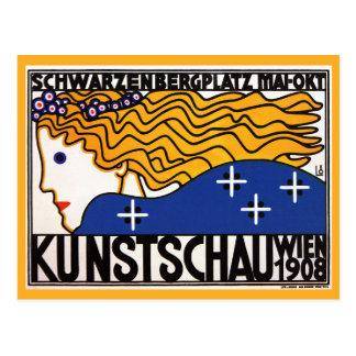 Cartão: Kunstschau Wien por Loffler Cartões Postais