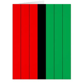 Cartão Kwanzaa colore o teste padrão verde preto vermelho