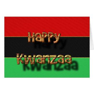 Cartão Kwanzaa feliz