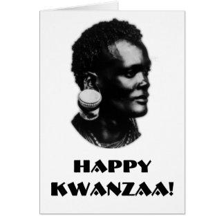 Cartão Kwanzaa feliz!