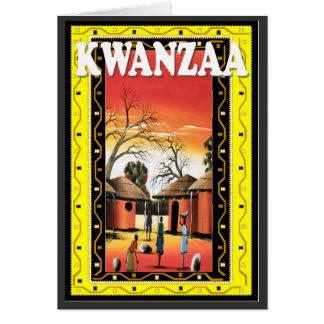 Cartão Kwanzaa, na vila