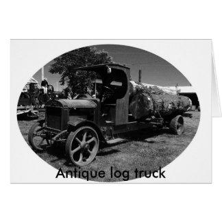 Cartão l registro truck1, caminhão antigo do registro