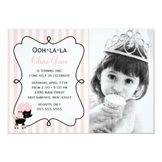 Cartão La do la de Ooh! Caniche cor-de-rosa de Paris