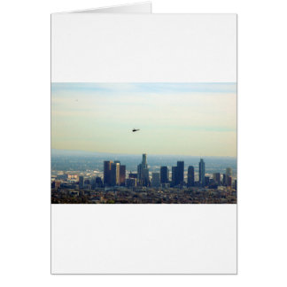 Cartão LA e helicóptero