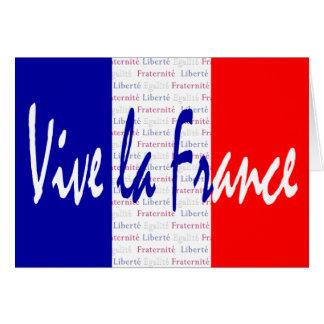 Cartão La France - Liberté de Vive, Égalité, Fraternité