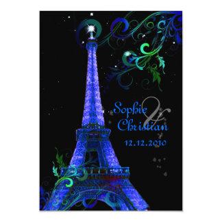 Cartão La Nuit de PixDezines Paris, torre Eiffel