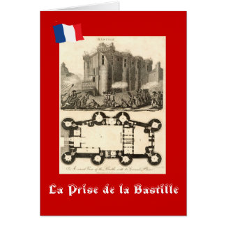 Cartão La Prise de la Bastille