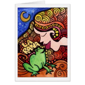 Cartão La Rana/cartão de Loteria do sapo