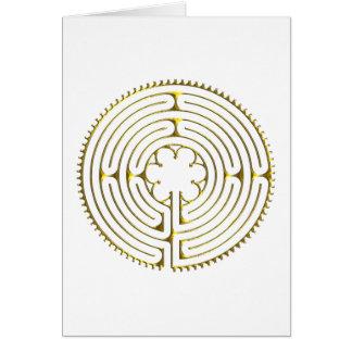 Cartão Labirinto Chartres
