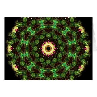 Cartão Labirinto da flor