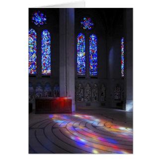 Cartão Labirinto de passeio da catedral da benevolência