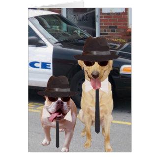Cartão Laboratório engraçado customizável e cão de Bull