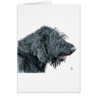 Cartão Labradoodle preto