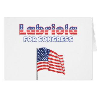 Cartão Labriola para a bandeira americana patriótica do