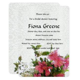 Cartão Laço cor-de-rosa do chá de panela da azálea do