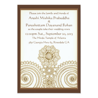 Cartão Laço de Mehndi (convite do casamento 5x7)