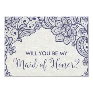Cartão Laço de serapilheira e de marinho você será minha