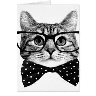 Cartão laço do gato - gato dos vidros - gato de vidro