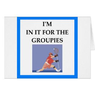 Cartão lacrosse