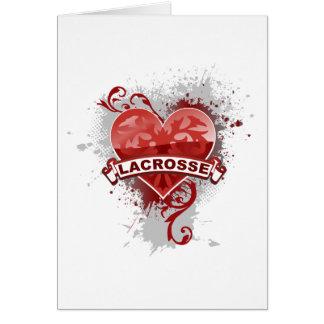 Cartão Lacrosse do amor