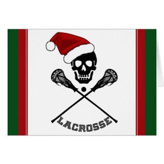 Cartão Lacrosse do Natal