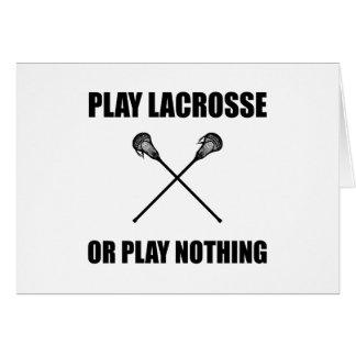 Cartão Lacrosse ou nada do jogo