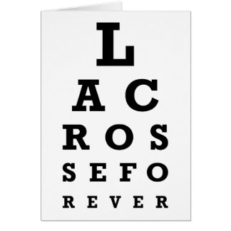 Cartão Lacrosse para sempre