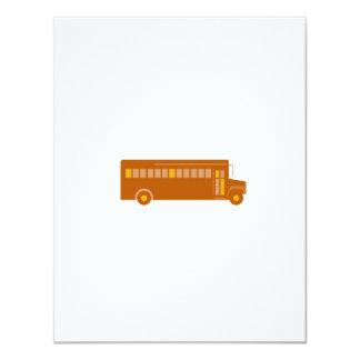 Cartão Lado do auto escolar do vintage retro