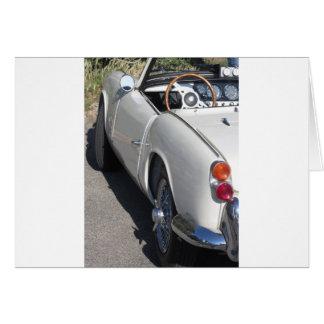 Cartão Lado esquerdo de um carro clássico britânico velho