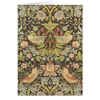 Cartão Ladrões da morango por William Morris
