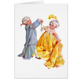 Cartão Lafayette dança o Minuet
