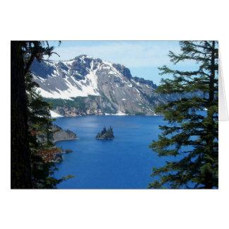 Cartão Lago crater, Oregon