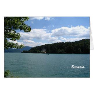 Cartão Lago em Baviera superior