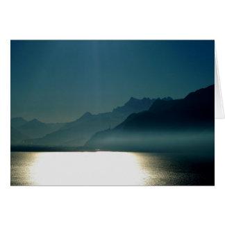 Cartão Lago Genebra Montreux