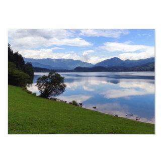 Cartão Lago Hallstattersee, cumes, Áustria