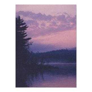 Cartão Lago indiano, parque de Adirondack, NY