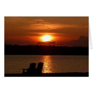 Cartão Lago sunset (vazio para dentro)