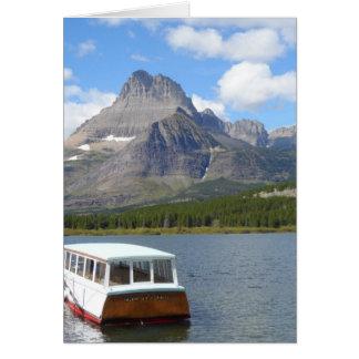 Cartão Lago Swiftcurrent - parque nacional de geleira