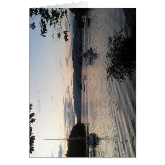 Cartão Lago Windermere do distrito do lago